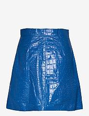 REMAIN Birger Christensen - Carmela Short Skirt Leather - korte nederdele - palace blue - 1