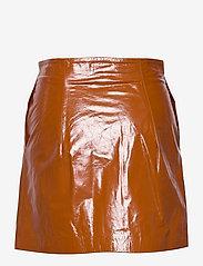 REMAIN Birger Christensen - Katy Skirt Leather - korte nederdele - sierra - 1