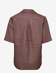REMAIN Birger Christensen - Jocy Shirt Leather - denimskjorter - fawn - 1