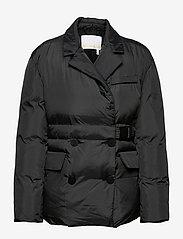 REMAIN Birger Christensen - Dalida Jacket Ribstop - forede jakker - black - 0