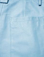 REMAIN Birger Christensen - Cleo Pants - læderbukser - ashley blue - 6