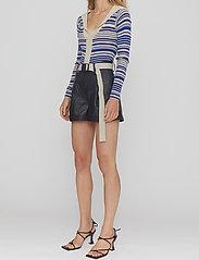 REMAIN Birger Christensen - Paola Shorts - læder shorts - black - 3
