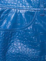 REMAIN Birger Christensen - Carmela Short Skirt Leather - korte nederdele - palace blue - 2