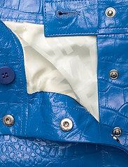 REMAIN Birger Christensen - Carmela Short Skirt Leather - korte nederdele - palace blue - 3