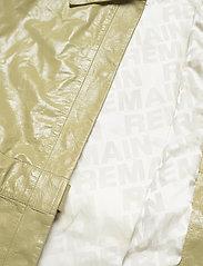 REMAIN Birger Christensen - Maika Coat Leather - lette frakker - gray green - 5