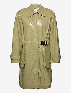 Maika Coat Leather - lette frakker - gray green