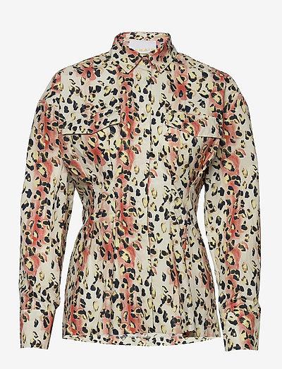 Charlotte Shirt - langærmede skjorter - leopard aop