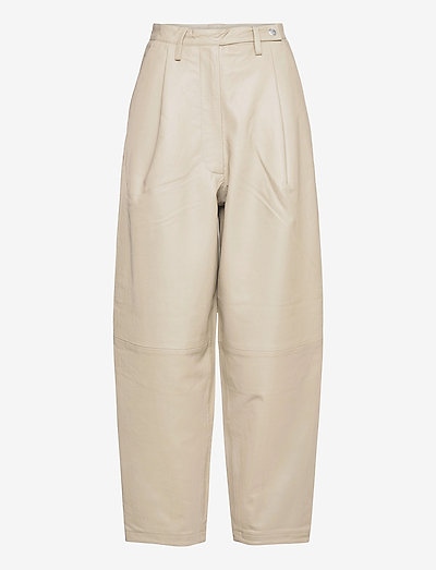 Cleo Pants - leather trousers - pelican