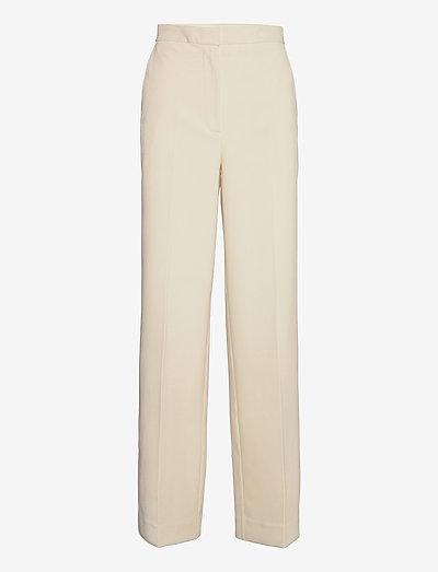 Nadia Pants - straight leg hosen - white asparagus