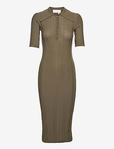 Evial Dress - bodycon dresses - military olive