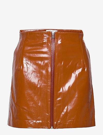 Katy Skirt Leather - korte nederdele - sierra