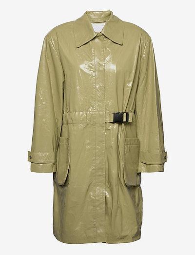 Maika Coat Leather - leichte mäntel - gray green