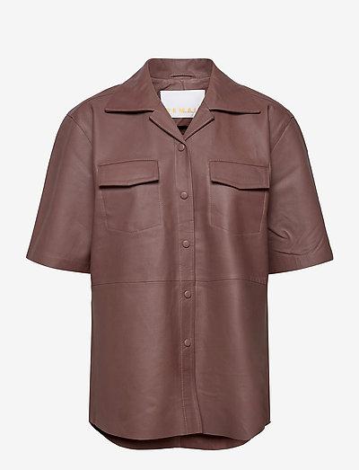 Jocy Shirt Leather - denimskjorter - fawn