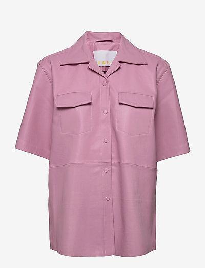 Jocy Shirt Leather - denimskjorter - pink lavender