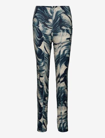 April Tights - leggings - aegean blue comb