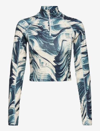 Emily Ls Top - t-shirt & tops - aegean blue comb