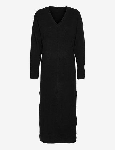 Nova Knit Dress - zomerjurken - black