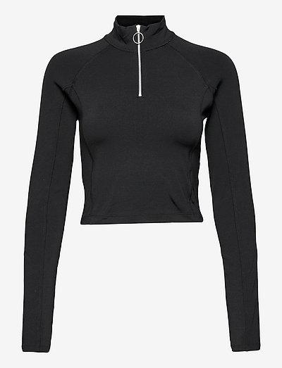 Emily Ls Top - t-shirt & tops - black
