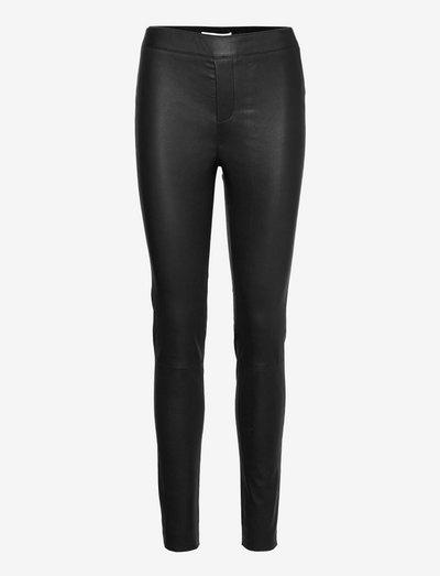 Snipe Leggings - leather trousers - black