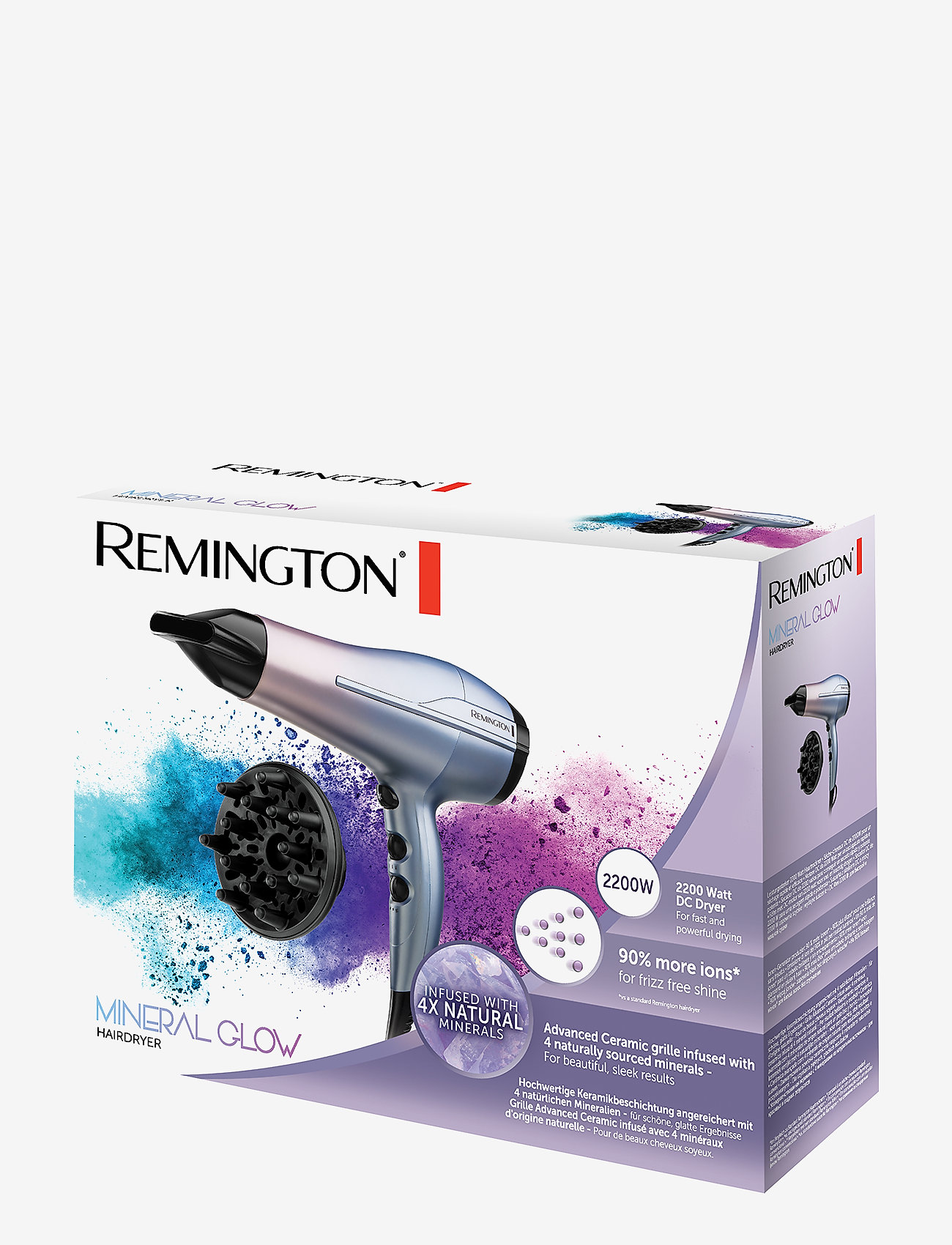 Remington - D5408 Mineral Glow Hairdryer - hiustenkuivaajat - no color