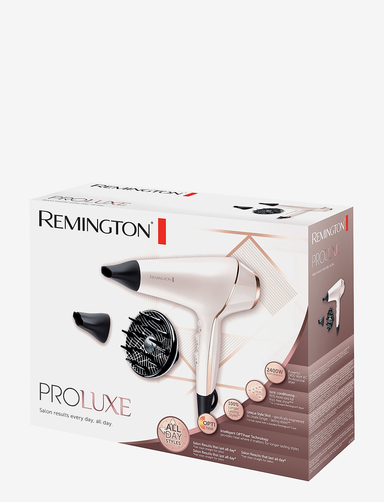 Remington - PRO-Luxe Dryer - hårfön - no color - 1