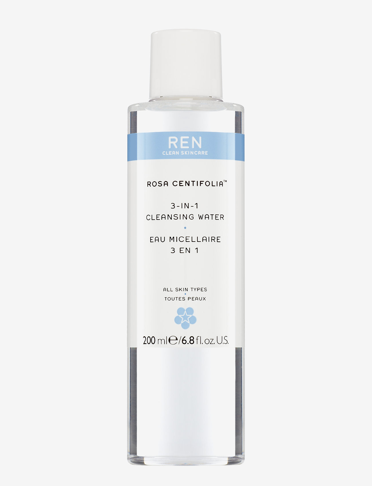 REN - 3-IN-1 CLEANSING WATER - makeupfjerner - clear - 0
