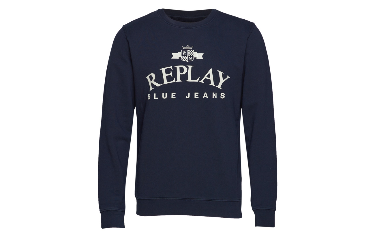Replay Black Sweatshirt Replay Black Sweatshirt 8nUz0v8x