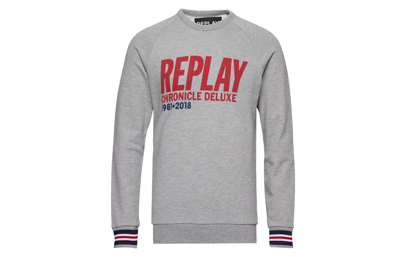 Light Melange Sweatshirt Grey Replay Sweatshirt Grey Replay Light Sweatshirt Light Replay Melange q6xOCaOw