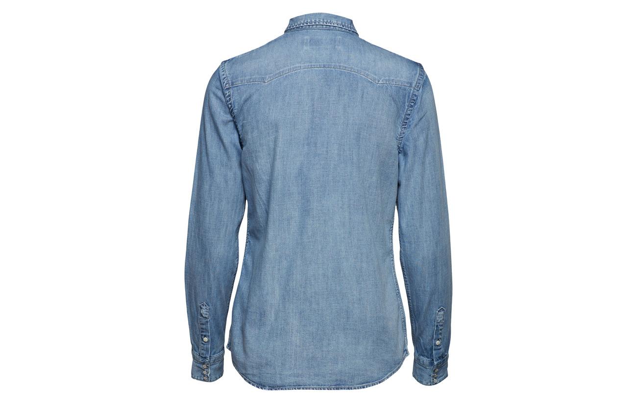 Blue Replay 100 Coton Shirt Light qnq8SfxE