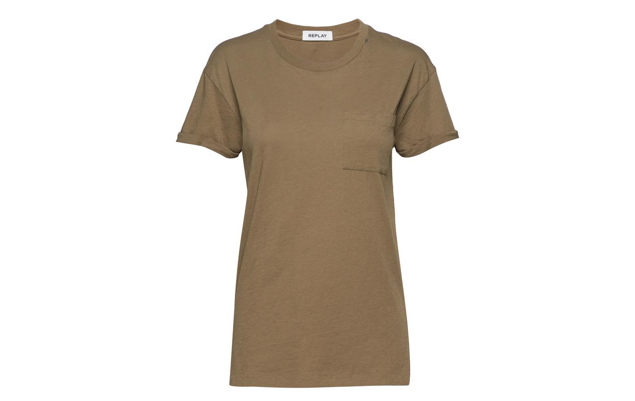Tshirt Replay Pink 100 Coton Light ggq6dxr1