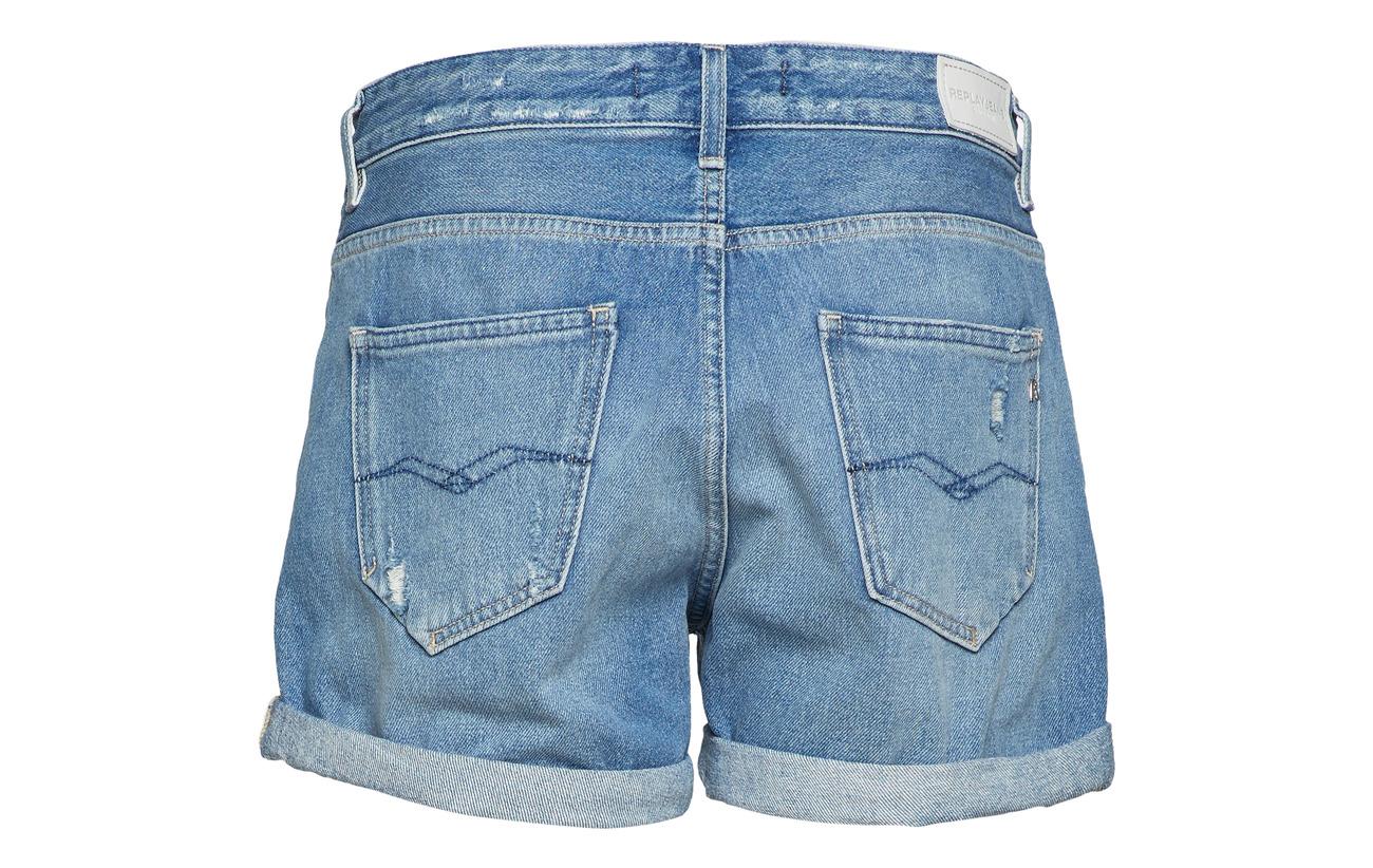 Denim 100 Medium Coton Blue Shorts Replay T4qYpw7w