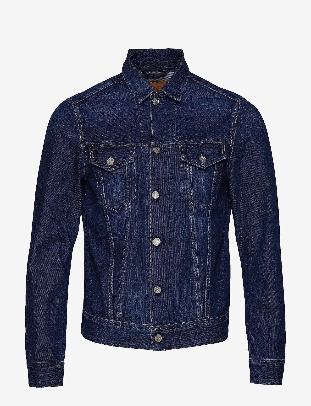 Replay 11 OZ AUTHENTIC BLUE COTTON DENIM - Vestes et manteaux DARK BLUE XRyDJDJV