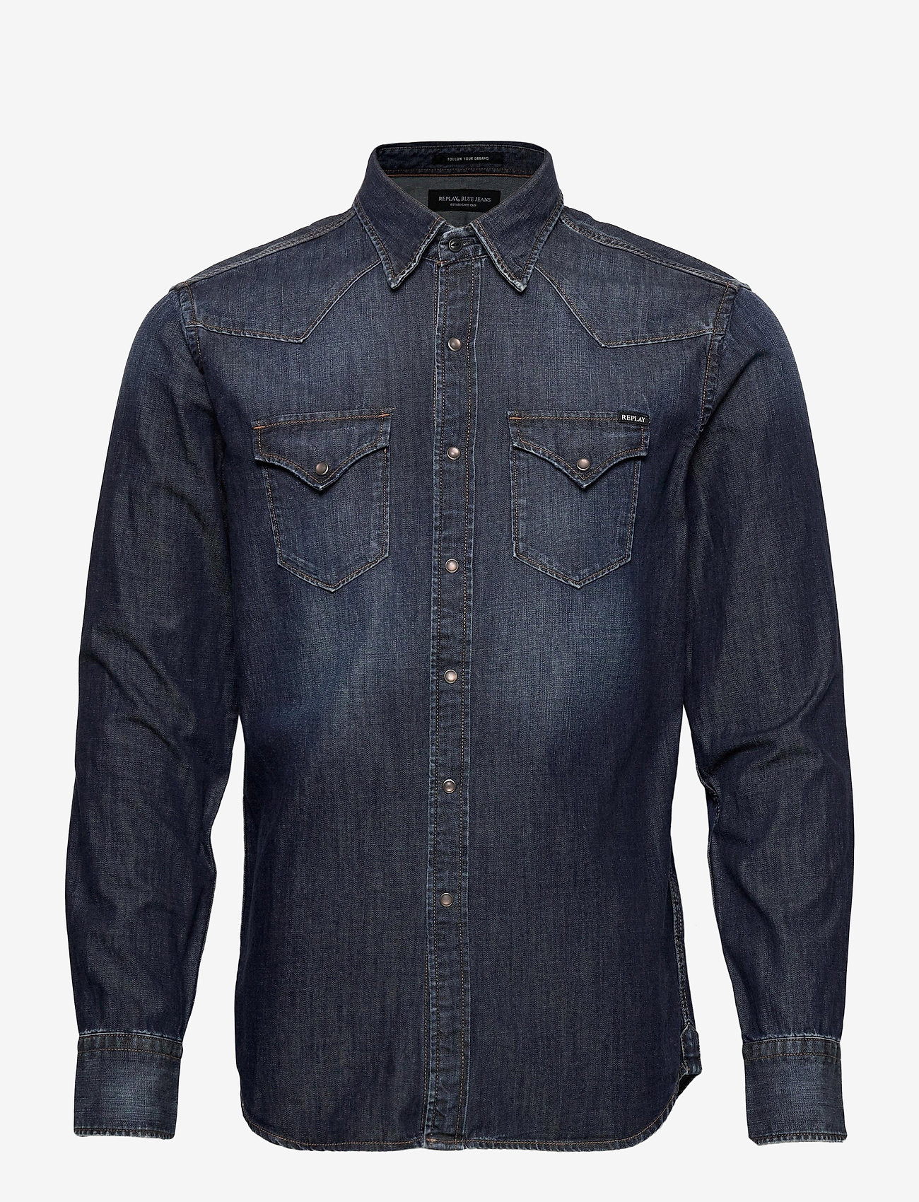 Replay - Shirt - peruspaitoja - dark blue - 0