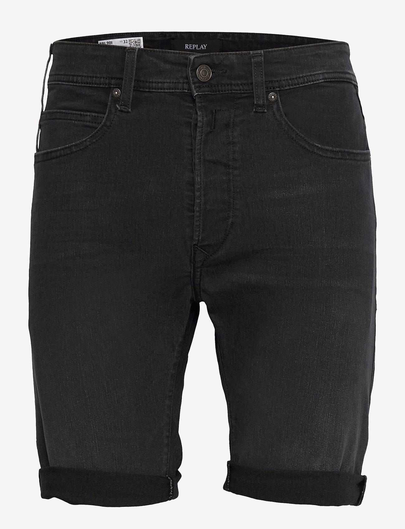 Replay - T-Shirt - denim shorts - dark grey - 0