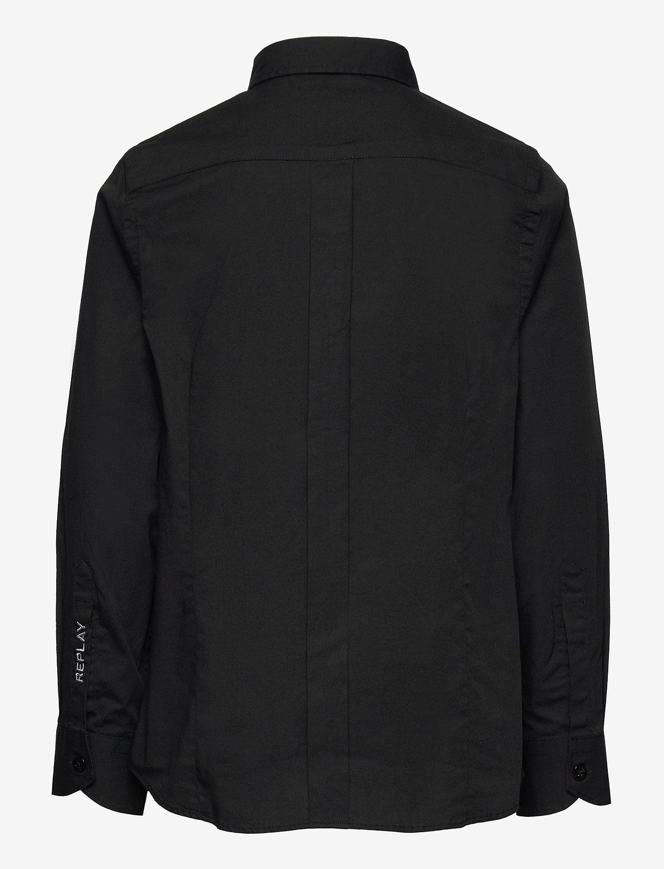 Replay - SHIRT Back To School - overhemden - black - 1