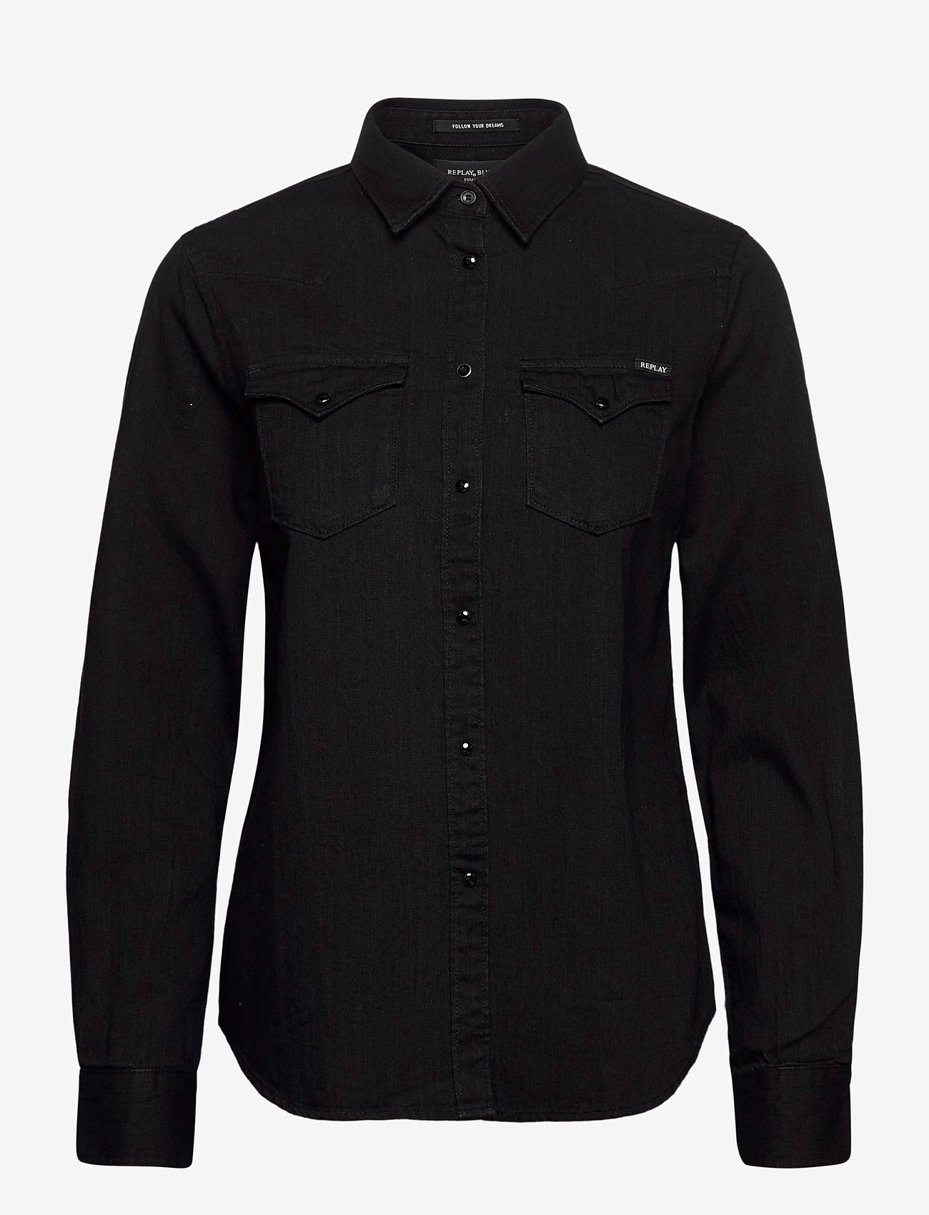 Replay - Shirt - chemises en jeans - black - 0