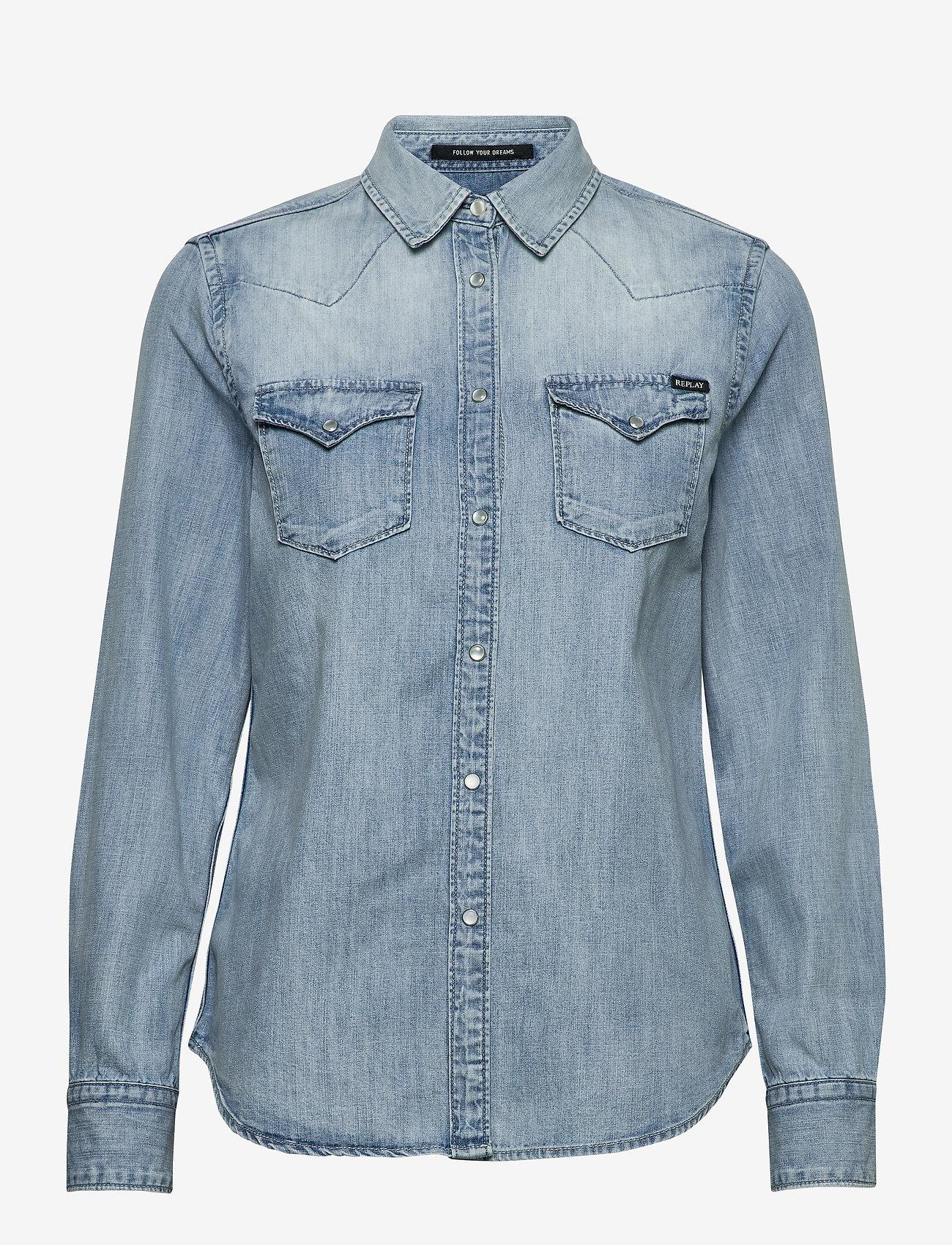 Replay - Shirt - chemises en jeans - light blue - 0