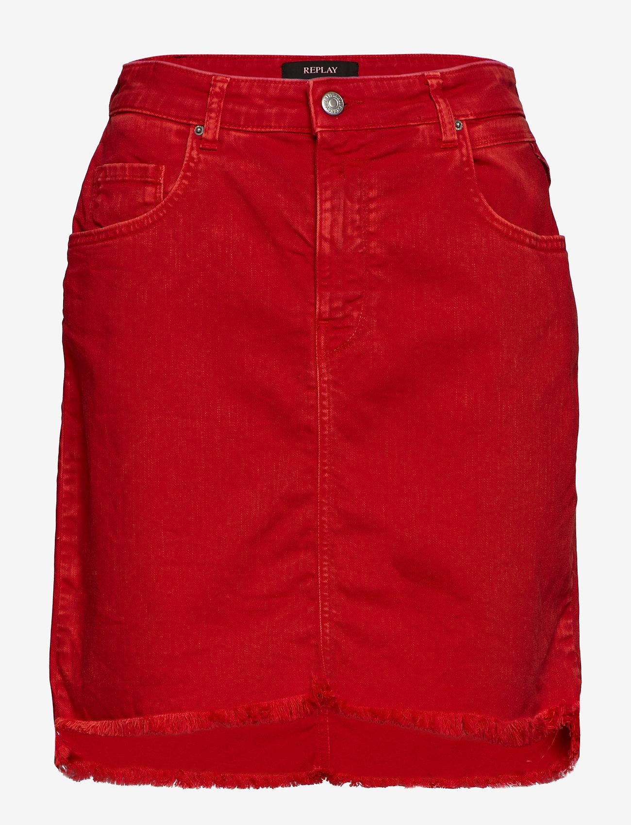 Replay - Skirt - denim skirts - bright red