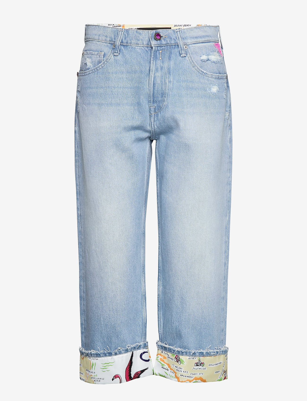 Replay - Shorts - brede jeans - super light blue - 0