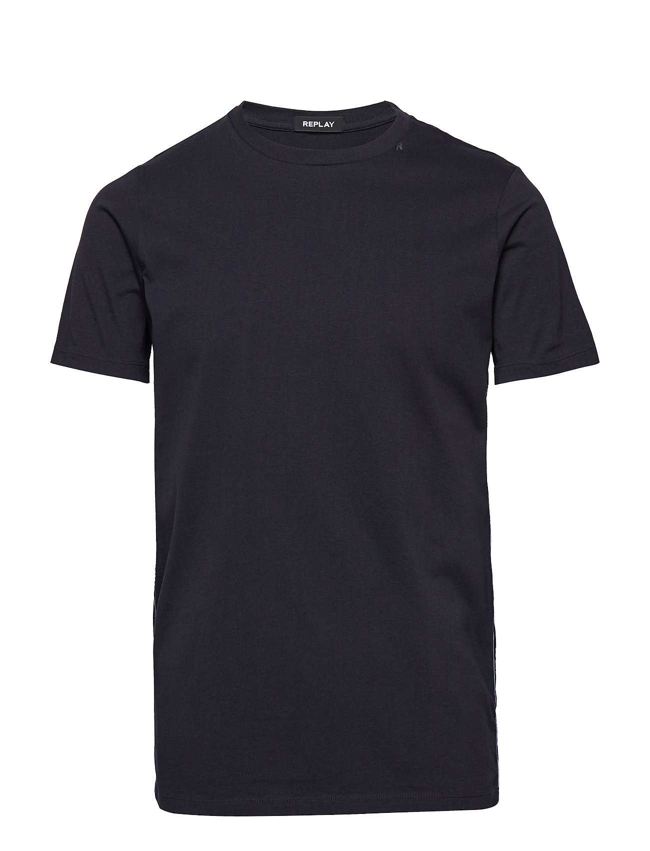 Replay PIECE DYED COMPACT JERSEY - BLUE GREY