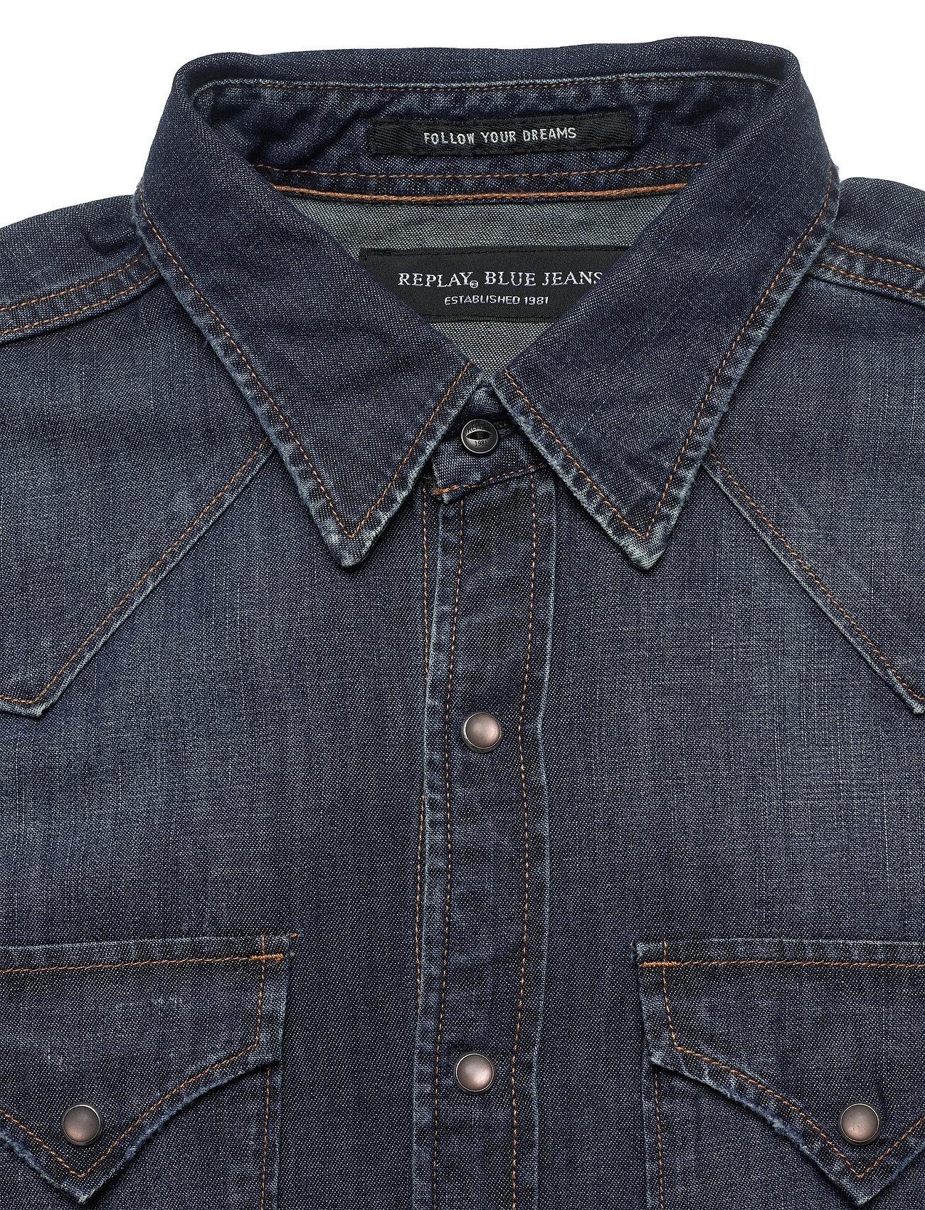 Replay Shirt - Skjorter DARK BLUE - Menn Klær