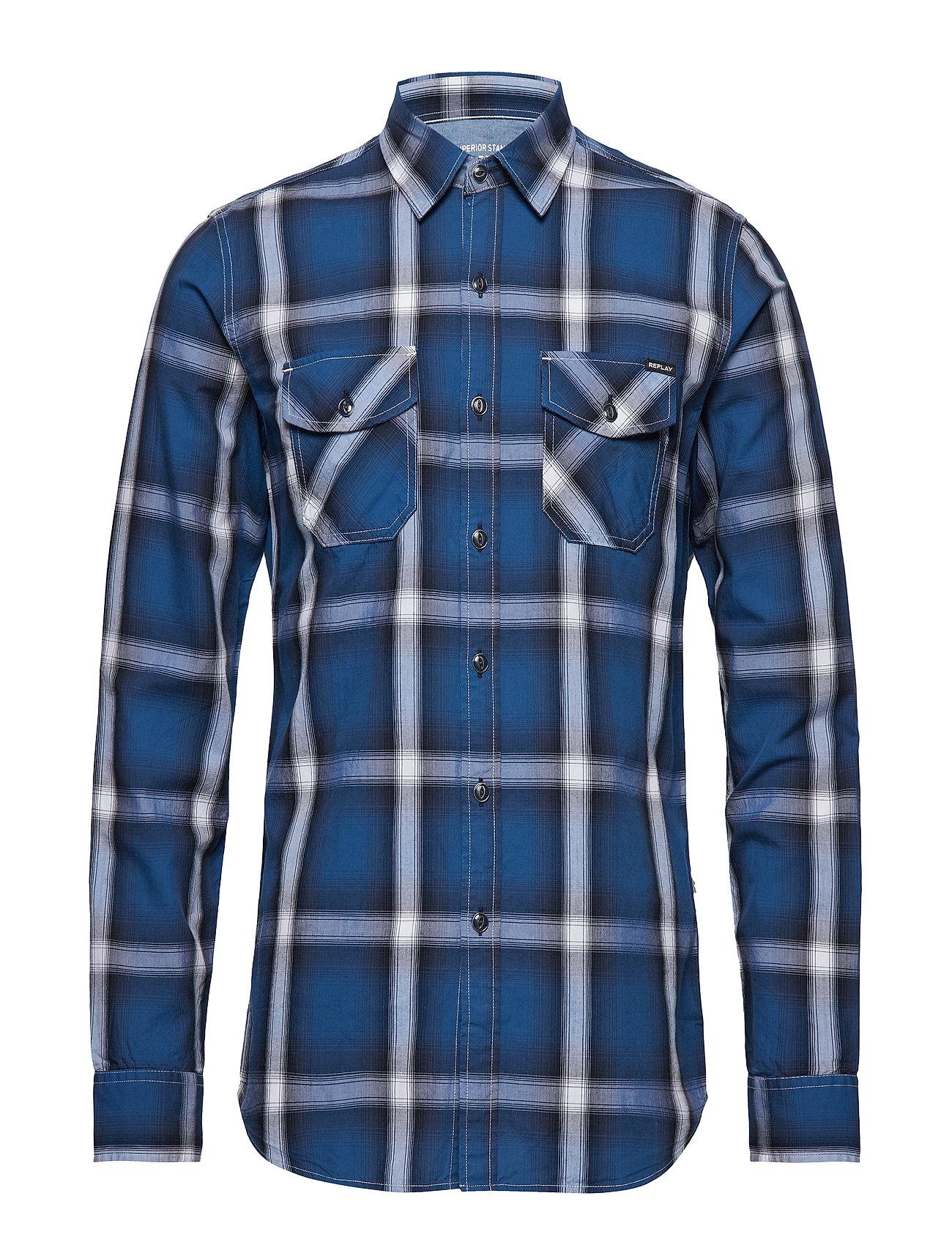 Replay Shirt - BLUE/WHITE/BLACK CHECK