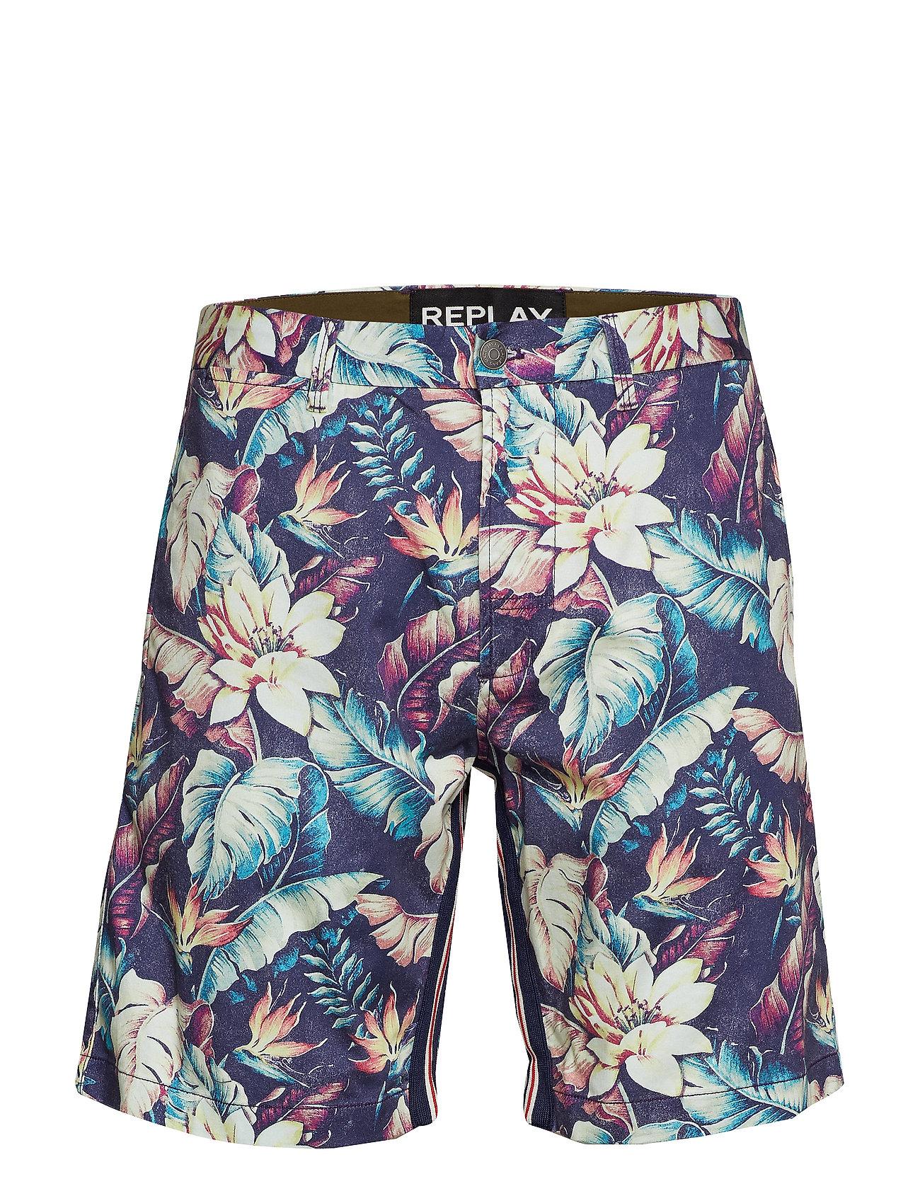 Replay Shorts - HIBISCUS PRINT