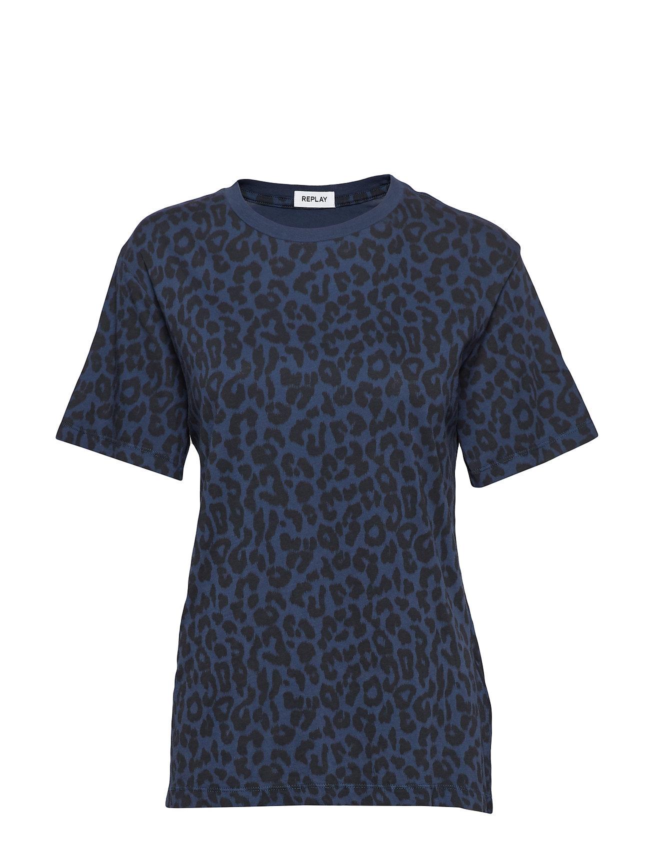 Replay TShirt - BLUE & BLACK ANIMALIER