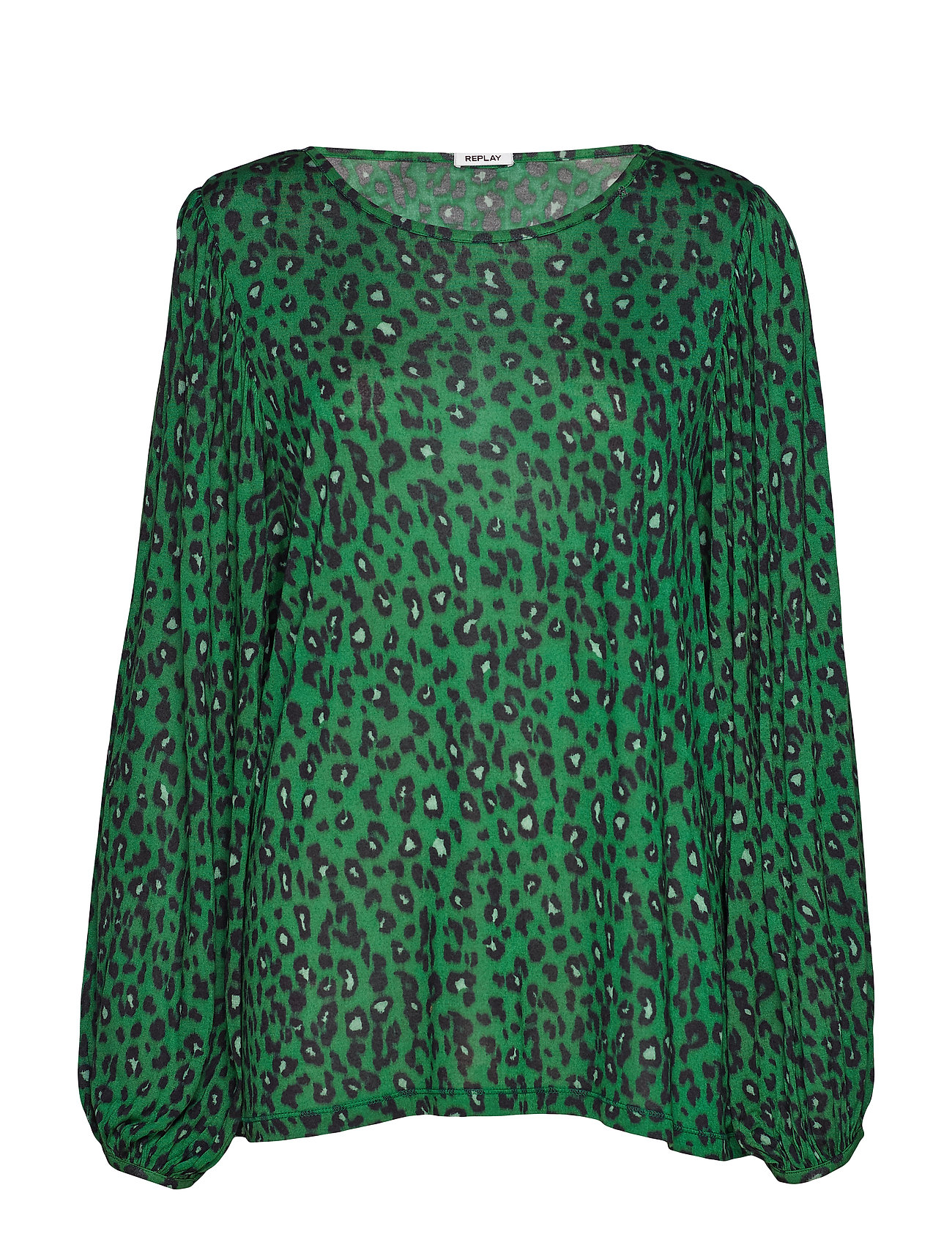 Replay Long-sleeved t-shirt - GREEN/BLACK ANIMALIER
