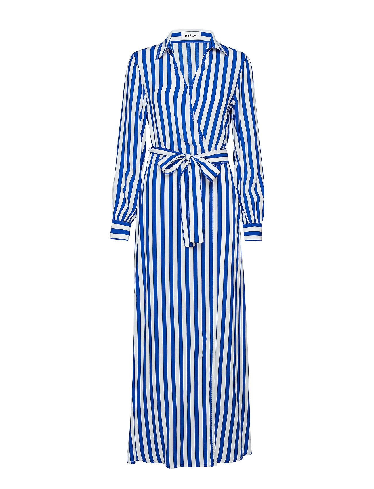 Replay Dress - CYAN-WHITE