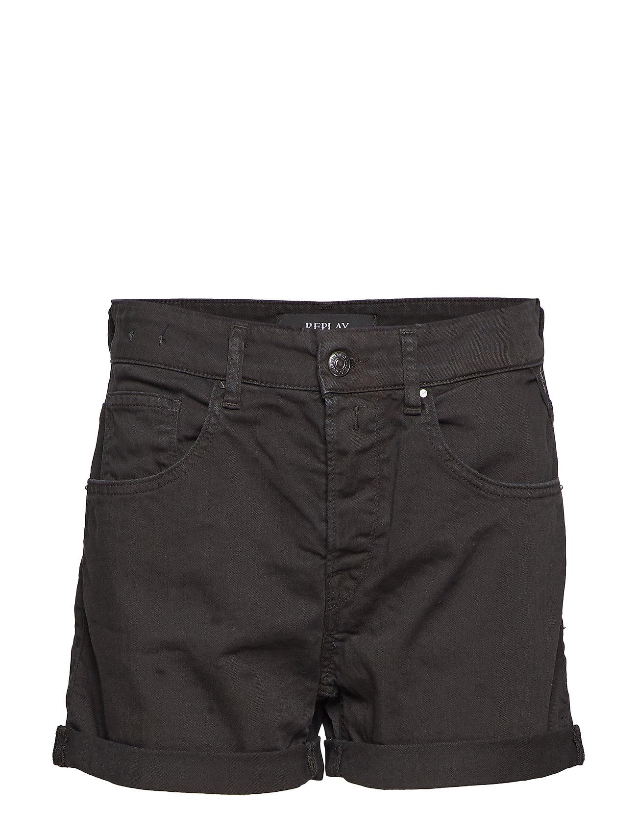 Replay Denim Shorts - BLACK