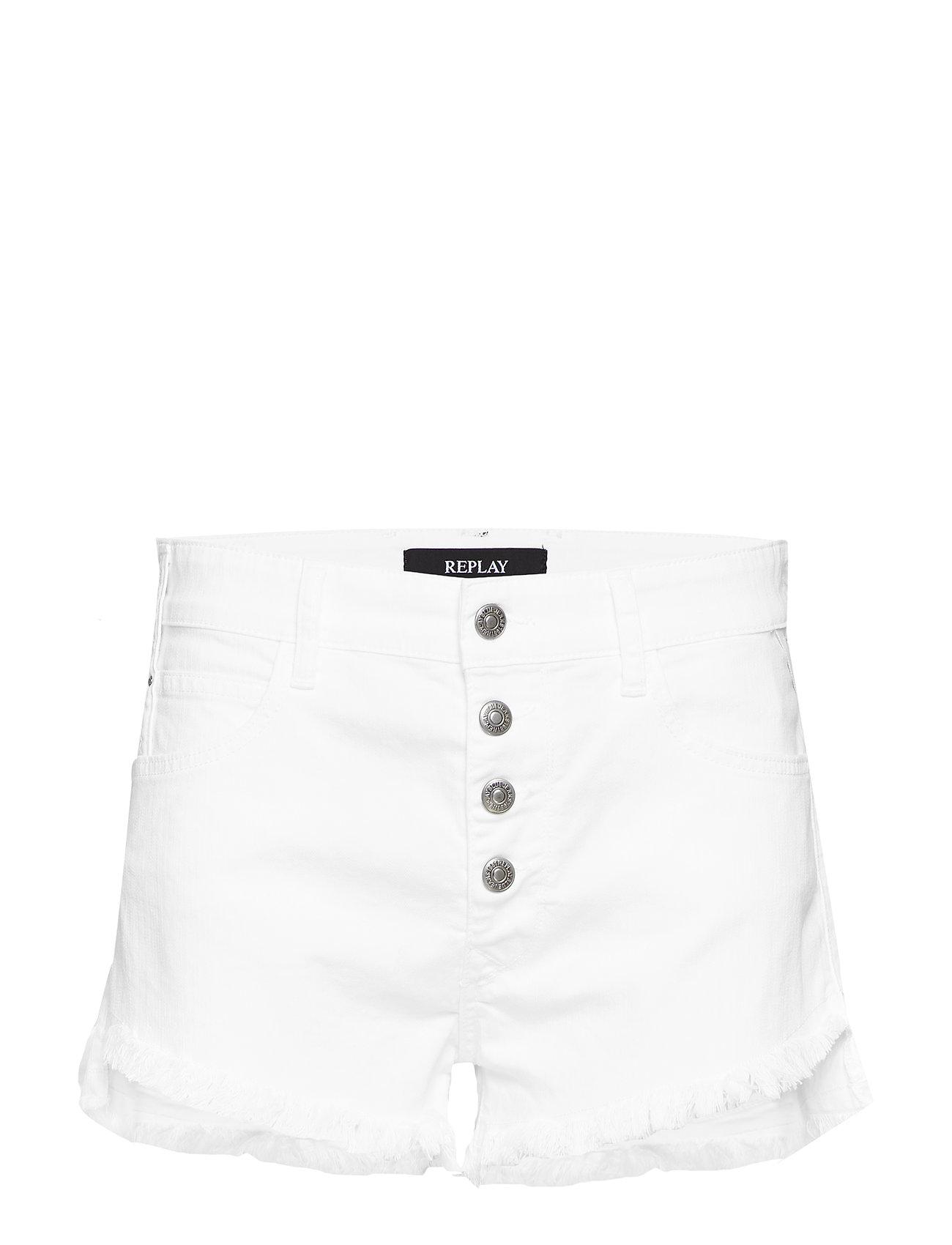 Replay Denim Shorts - WHITE