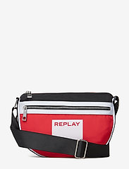 Replay - Bag - bum bags - blood red -black-optical white - 0