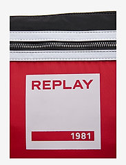 Replay - Bag - bum bags - blood red -black-optical white - 4